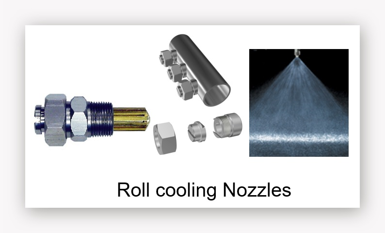 Roll cooling nozzles